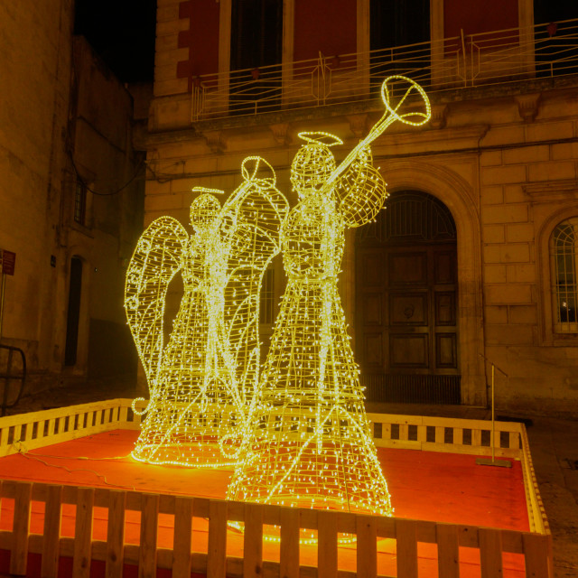 """Christmas Illuminations in Italy"" stock image"