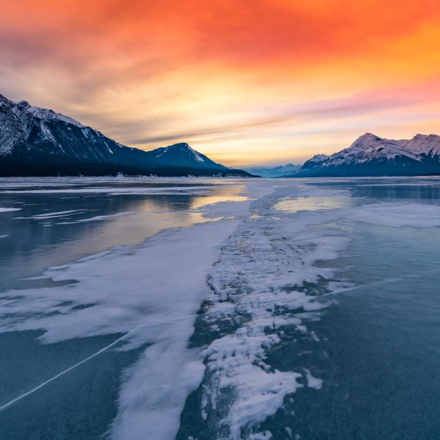 """Dawn on the Lake"" stock image"