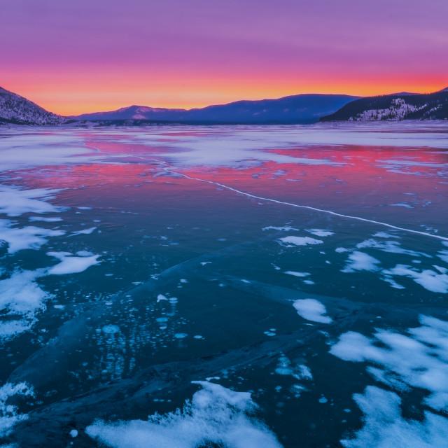 """""""Abraham Lake"""" stock image"""