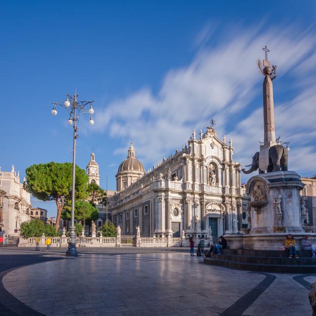 """Piazza Duomo"" stock image"