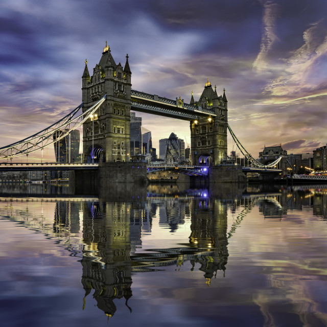 """""""Tower Bridge and the City of London"""" stock image"""