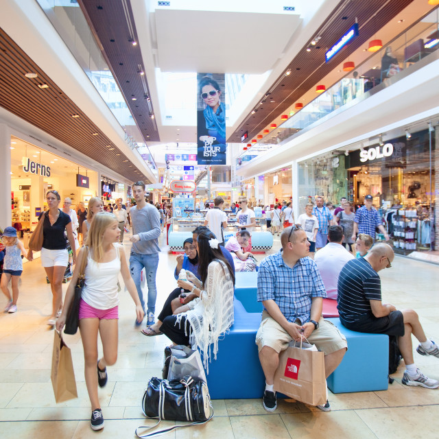 """Sweden, Stockholm - Gallerian shopping mall"" stock image"