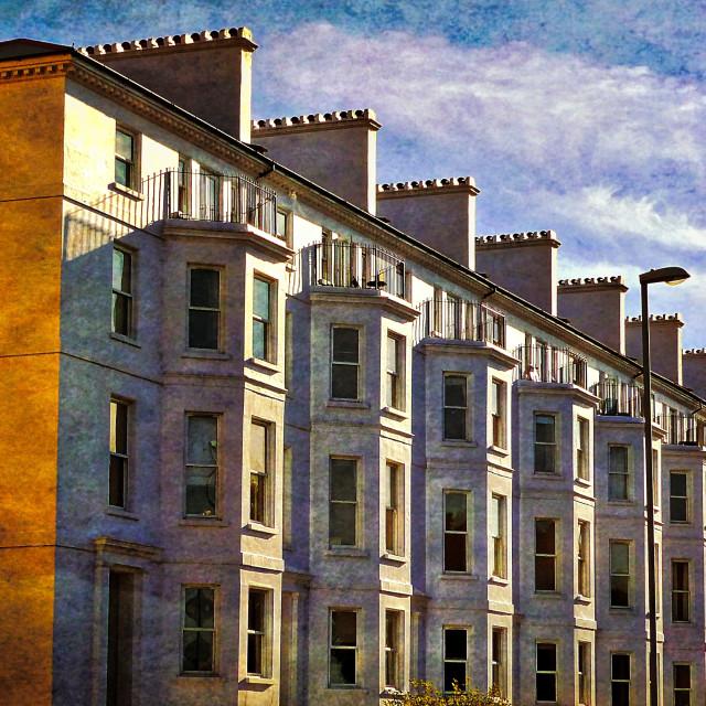 """Georgian Terraces"" stock image"