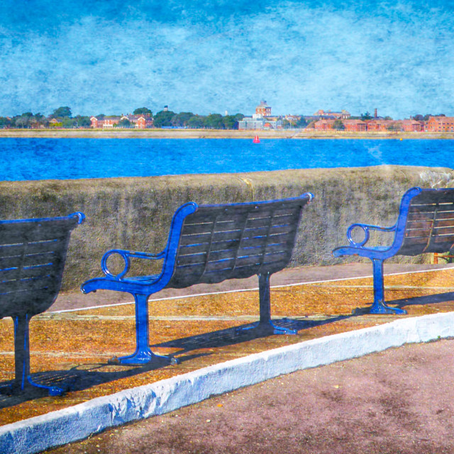 """Promenade Benches"" stock image"