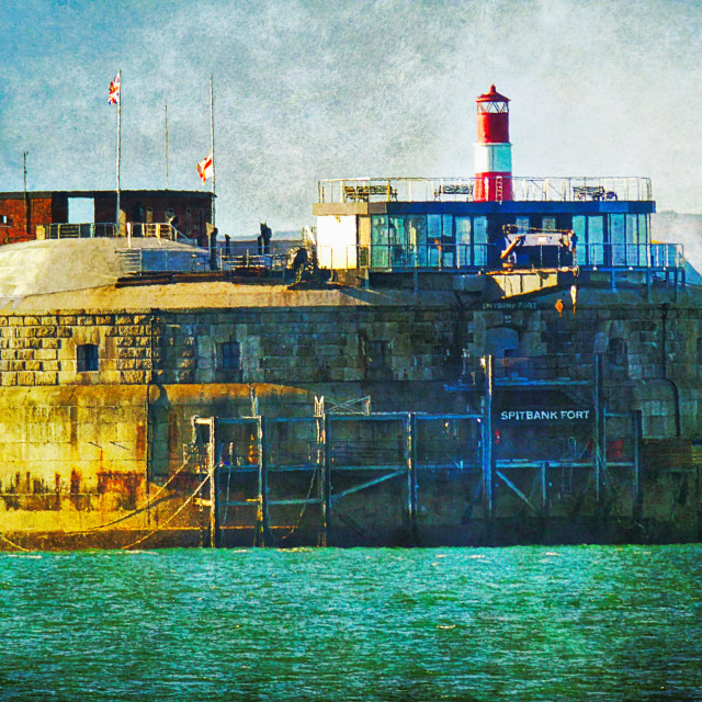 """""""1859 Spitbank Fort - Southsea"""" stock image"""