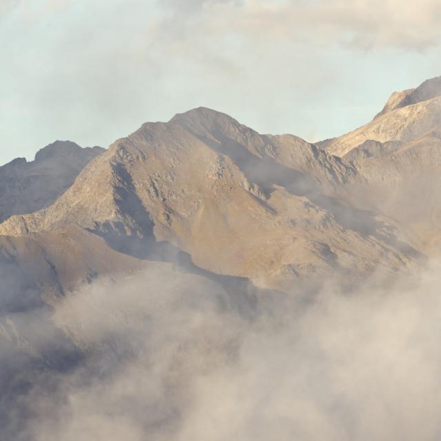 """""""Misty Mountain light"""" stock image"""