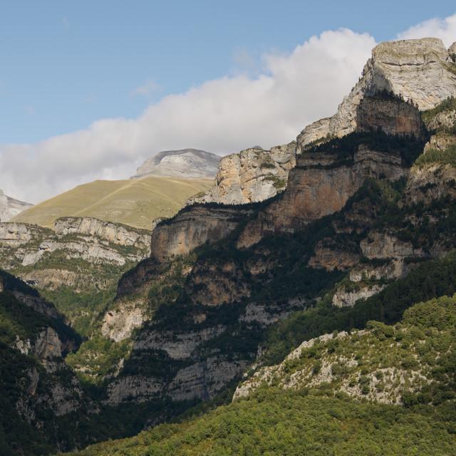 """Canyon de Anisclo"" stock image"