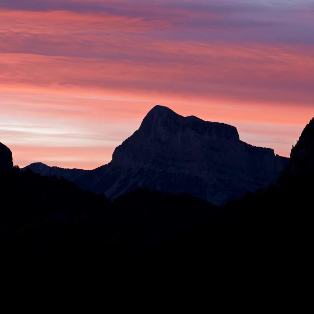 """Pena Montanesa Sunrise"" stock image"