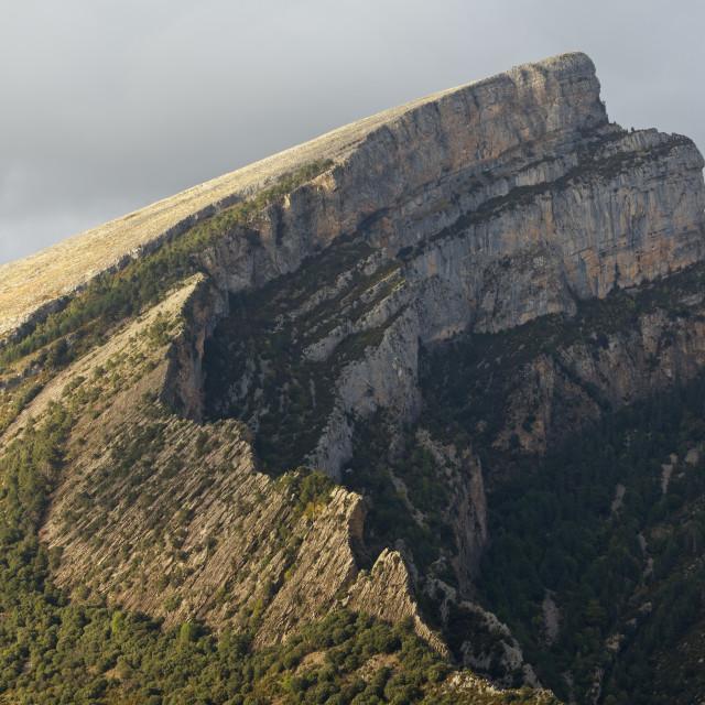 """Moody Skies loom above the Peak of Mondoto"" stock image"