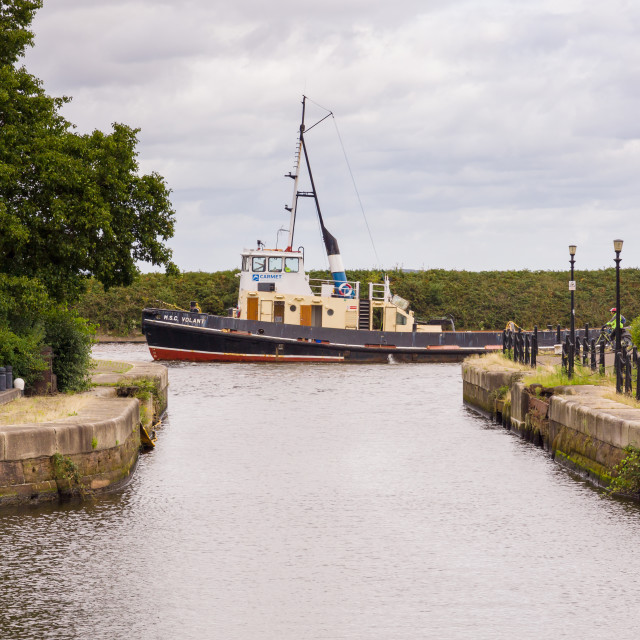 """""""Manchester Ship Canal"""" stock image"""