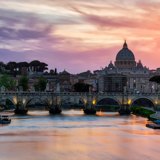 """""""Vatican at sunset"""" stock image"""