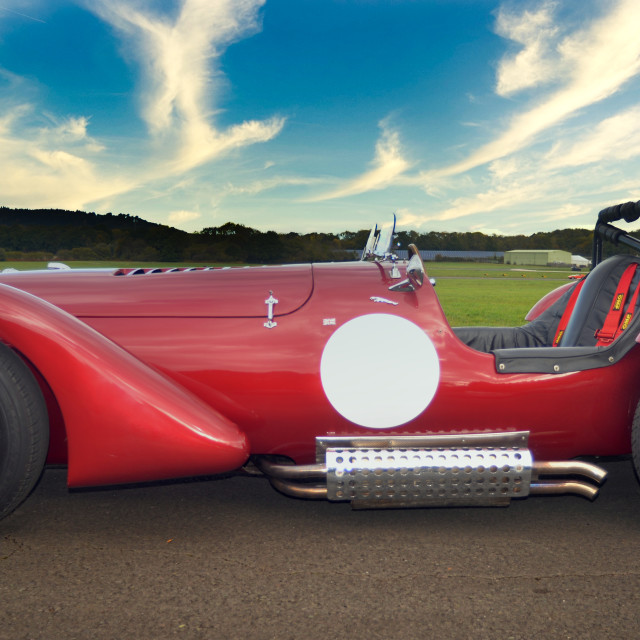 """Two seater sport custom car"" stock image"
