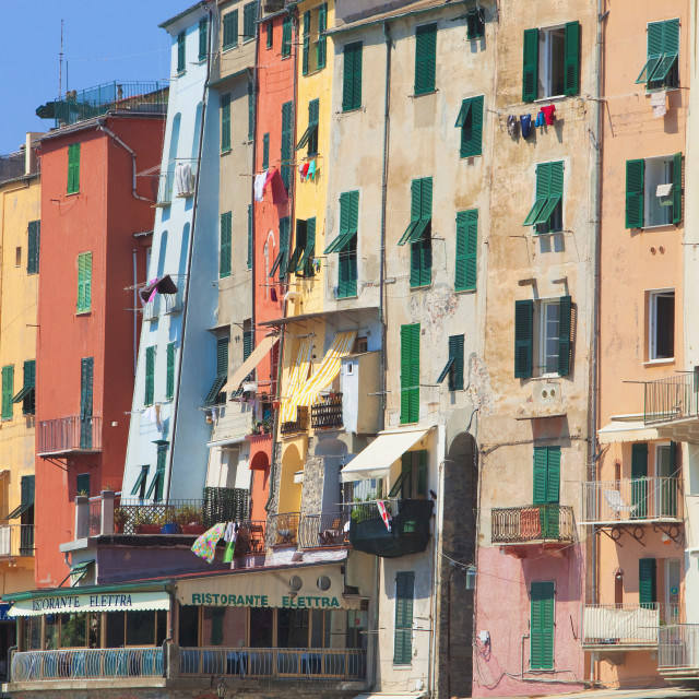 """Italy, Liguria, La Spezia, Portovenere."" stock image"