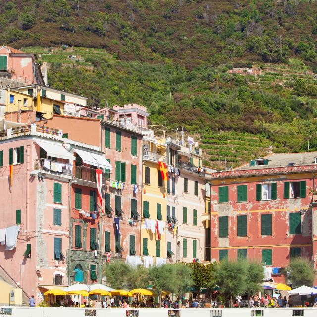 """Italy Liguria Cinque Terre Vernazza"" stock image"