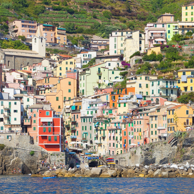 """""""Italy Liguria Cinque Terre Riomaggiore"""" stock image"""