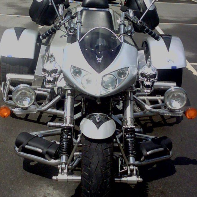 """""""motorcycle tricycle easy rider front"""" stock image"""