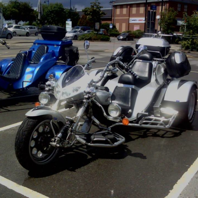 """""""motorbike tricycle easy rider silver"""" stock image"""