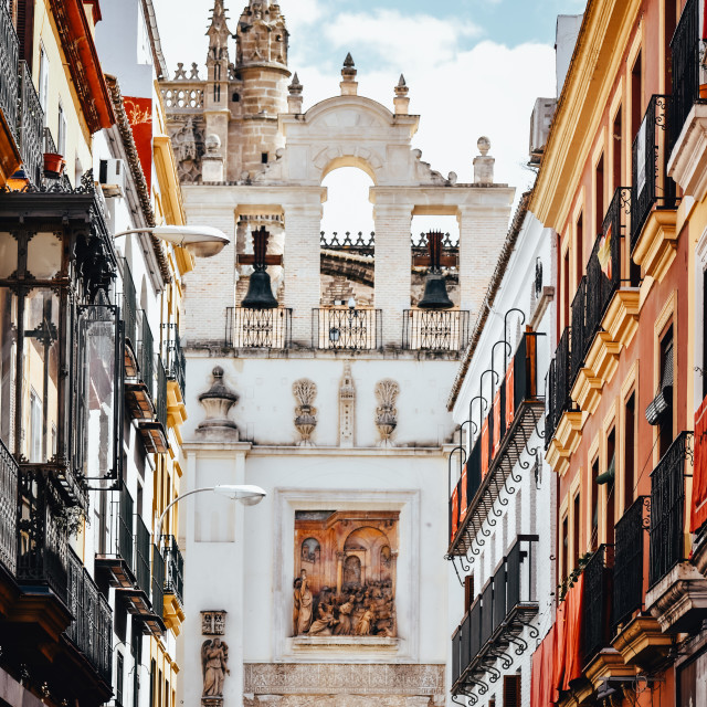 """Seville cathedral, Spain"" stock image"