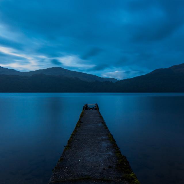 """Loch Lomond symmetry"" stock image"