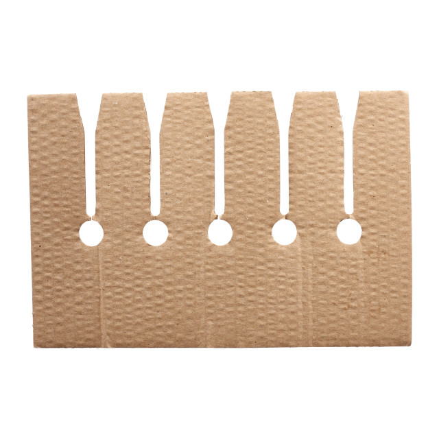 """""""brown cardboard partition with cells for a box"""" stock image"""