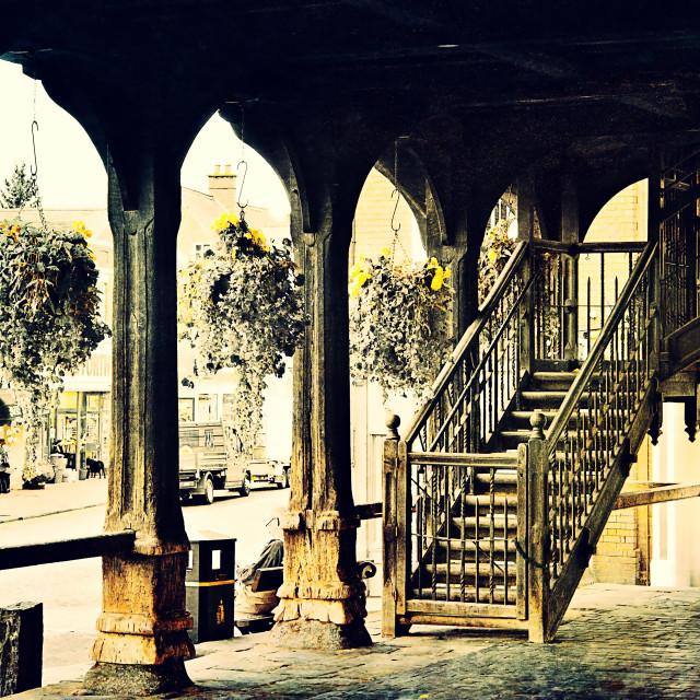 """""""Ledbury Market House Stairs - Herefordshire"""" stock image"""