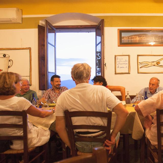 """""""Italy Liguria Lerici - Osteria L´Orto di Amneste"""" stock image"""