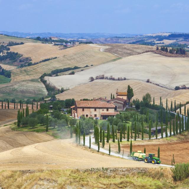 """Italy Tuscany Le Crete - Farmhouse"" stock image"
