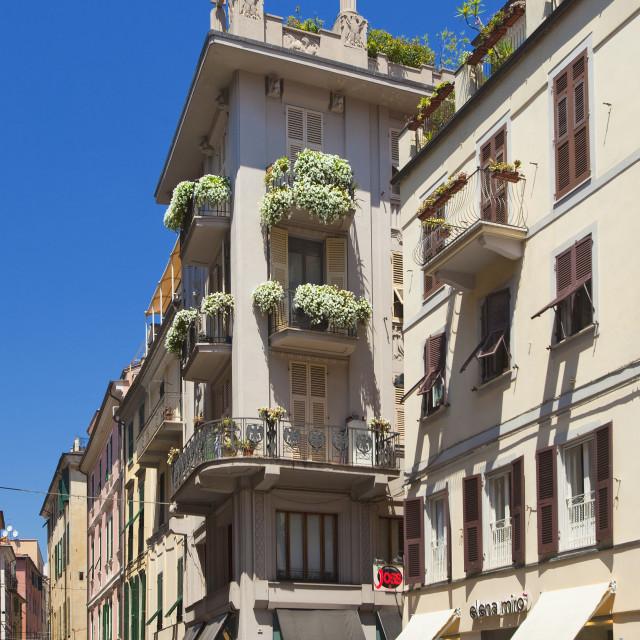 """""""Italy, Liguria, La Spezia - Beautiful Urban Archirecture"""" stock image"""