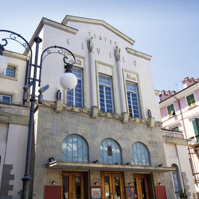 """Italy, Liguria, La Spezia - Civic Theatre"" stock image"
