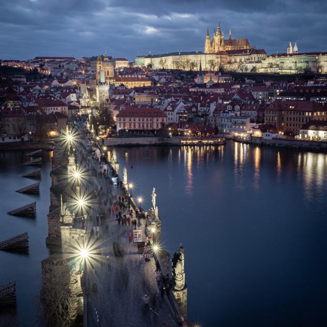 """Charles bridge, Prague, Czechia"" stock image"