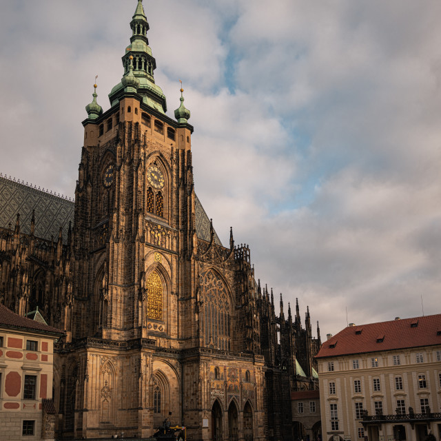 """St. Vitus Cathedral, Prague Castle, Czechia"" stock image"