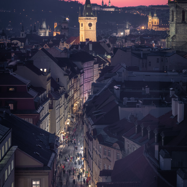 """Nighttime in Prague, Czechia"" stock image"