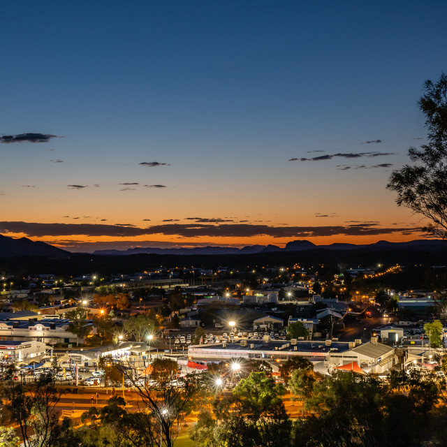 """Alice Springs after sunset"" stock image"