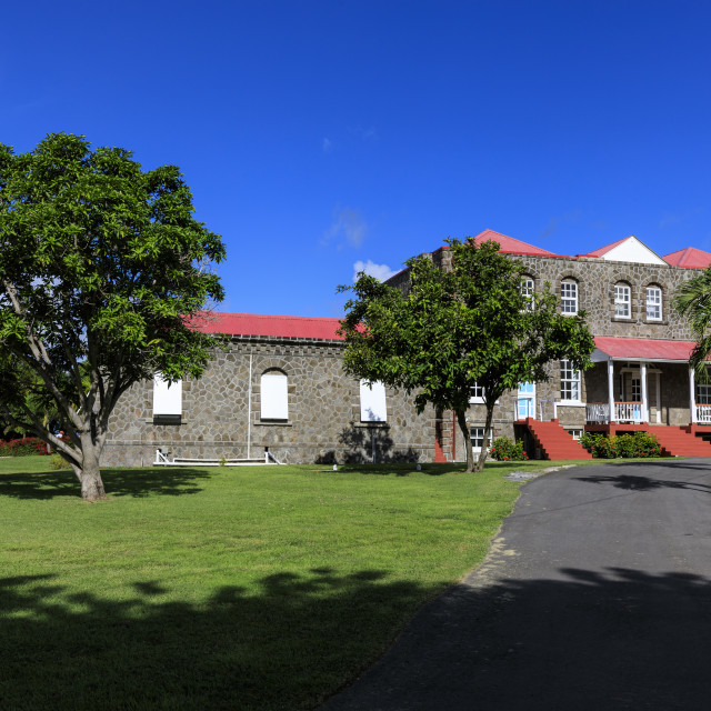 """""""Government House, Bath Plain, Charlestown, Nevis, St. Kitts and Nevis, West..."""" stock image"""