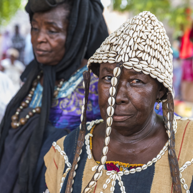 """Woman at a Voodoo ceremony in Dogondoutchi, Niger"" stock image"
