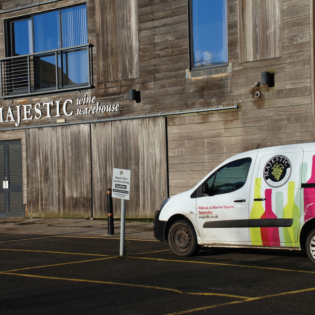 """Majestic wine warehouse, Tenterden"" stock image"