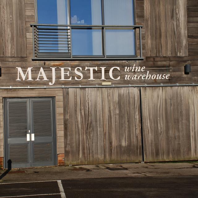 """""""Majestic wines branch, Tenterden"""" stock image"""