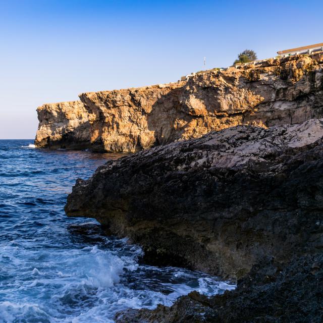 """""""Għar Lapsi"""" stock image"""