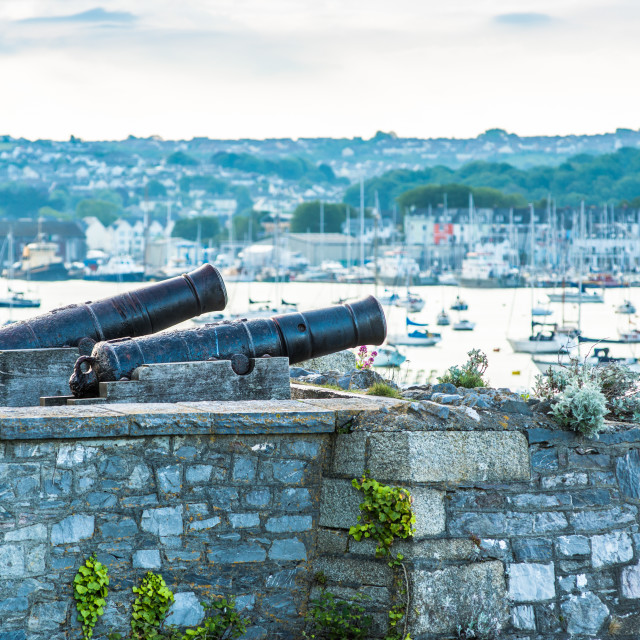 """""""Blomefield design cast iron cannons"""" stock image"""
