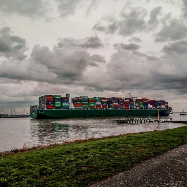 """""""Antwerp Harbour"""" stock image"""