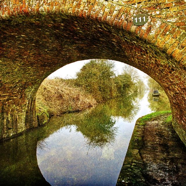 """Canal Bridge No. 111 - Milton Lilbourne, Wiltshire"" stock image"