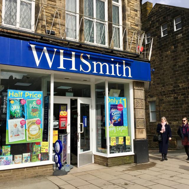 """W H Smith in Ilkley, Yorkshire, UK"" stock image"