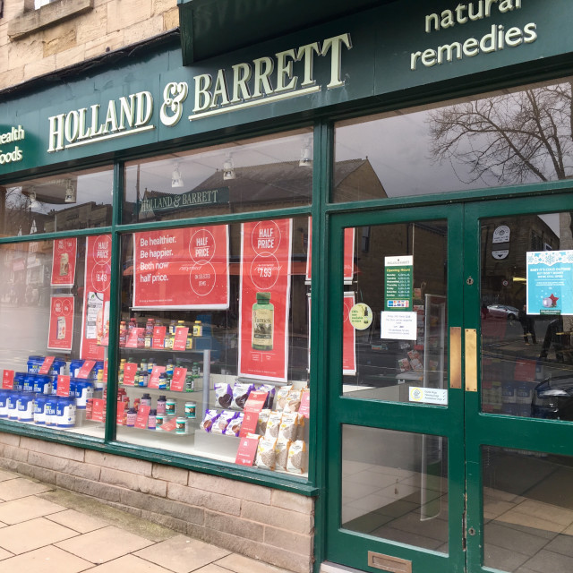 """""""Holland and Barrett shop in Ilkley, Yorkshire, UK"""" stock image"""