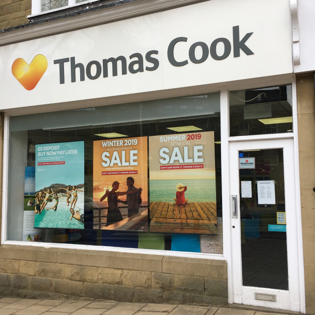 """Thomas Cook in Ilkley, Yorkshire, UK"" stock image"