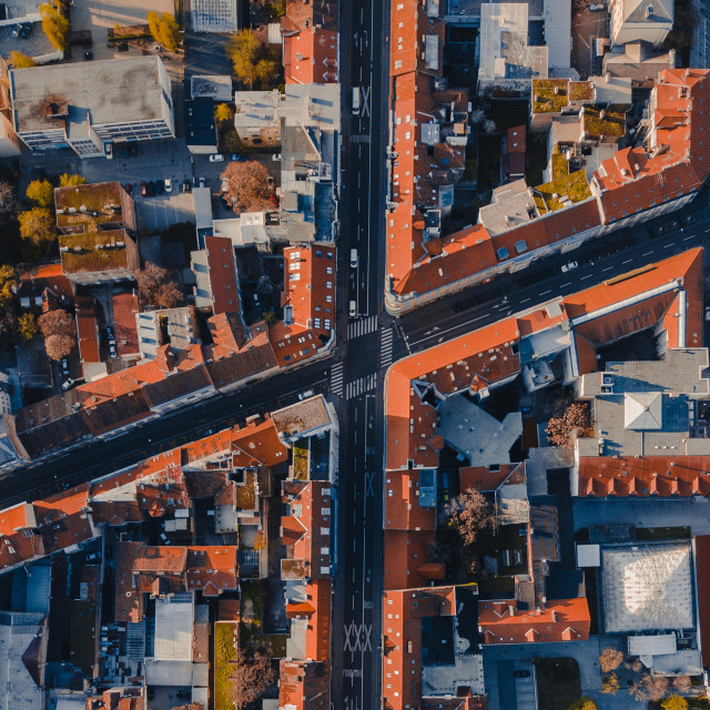 """""""Intersection in Zagreb"""" stock image"""