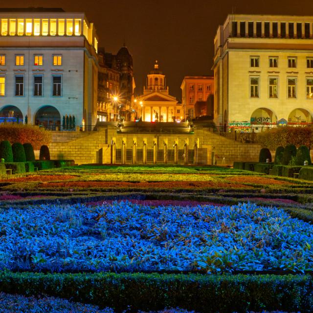 """Mont des Arts Gardens, Brussels"" stock image"