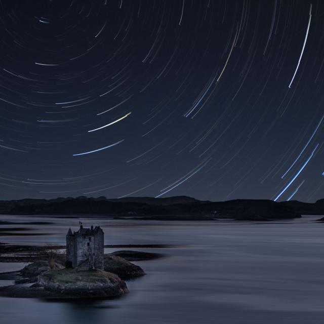 """Castle stalker,Scotland"" stock image"