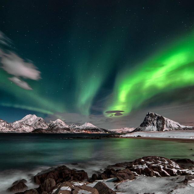"""The Northern Lights"" stock image"