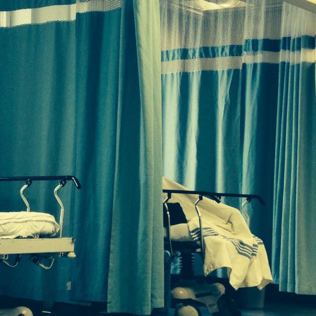 """Hospital beds"" stock image"