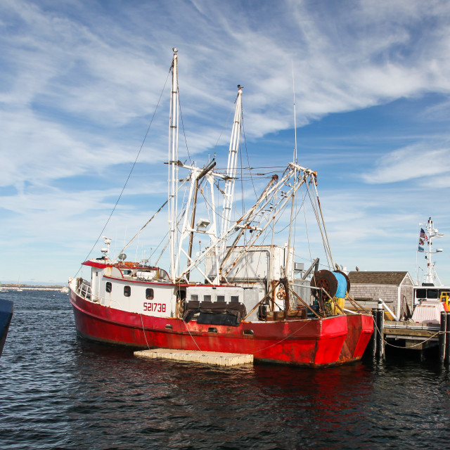 """""""Fishing boat in Provincetown"""" stock image"""
